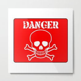 Red Danger Sign Metal Print
