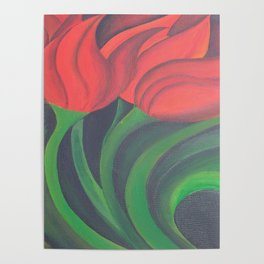 Red Tulip Diptych Poster