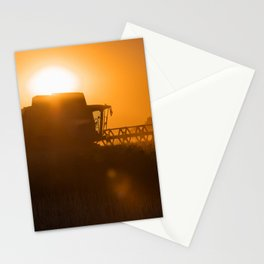 Midsummer time is harvest time of the cereal fields Stationery Cards