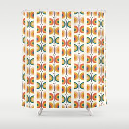 Retro Butterflies Shower Curtain
