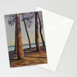 Ombres de pins Stationery Cards
