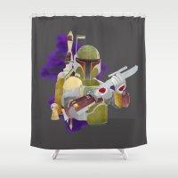 boba fett Shower Curtains featuring Boba Fett by Kenneth Shinabery