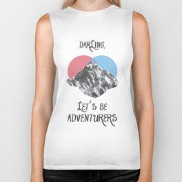 Oh Darling, Let's Be Adventurers  Biker Tank