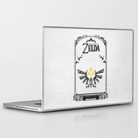 the legend of zelda Laptop & iPad Skins featuring Zelda legend - Hyrulian Emblem by Art & Be