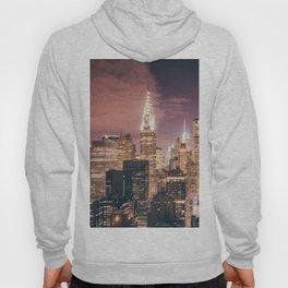 New York City - Chrysler Building Lights Hoody
