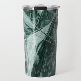 Green Abstract Eagle Nest Travel Mug