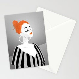 RED HAIRED GIRL Stationery Cards