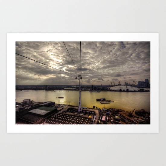The Thames at Greenwich  Art Print