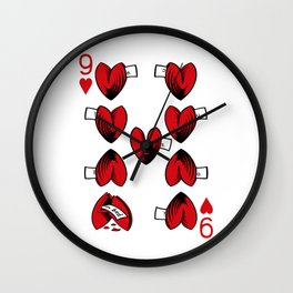 Delicious Deck: The Nine of Hearts Wall Clock