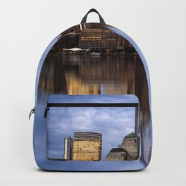 Cityscape of Financial District of New York Backpack