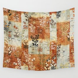 Autumn Grasses and Butterflies Wall Tapestry