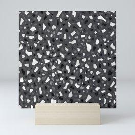 Terrazzo Dark Grey Mini Art Print
