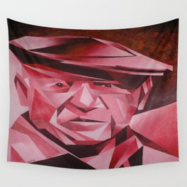 Cubist Portrait of Pablo Picasso: The Rose Period Wall Tapestry