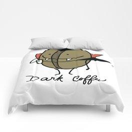 Dark coffee Comforters