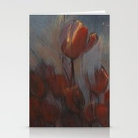 tulips Stationery Cards featuring tulips by Maria Enache