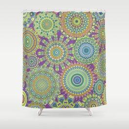 Millefiori Karma-Jardin colorway Shower Curtain