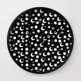Cosmis space in black Wall Clock