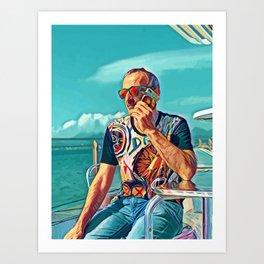 Pop  Auto Portrait of The Artist Art Print
