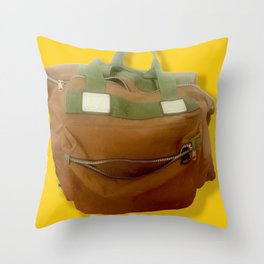 Happy Bag Throw Pillow
