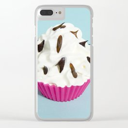 Cream and sprinkles Clear iPhone Case