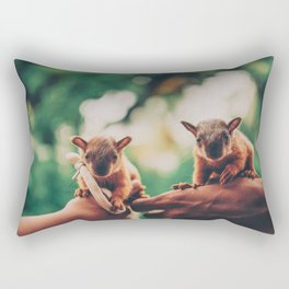 Two adorable squirrels Rectangular Pillow