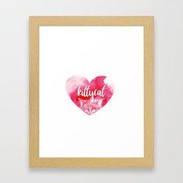 kittykat Framed Art Print