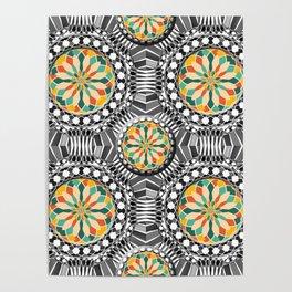 Beveled geometric pattern Poster