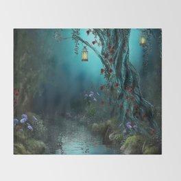 fantasy world Throw Blanket