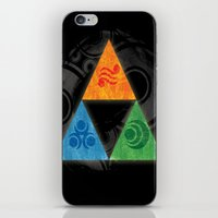 triforce iPhone & iPod Skins featuring Zelda Triforce by Bradley Bailey