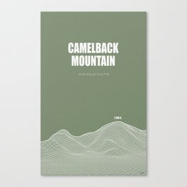 Camelback Mountain (green) Canvas Print