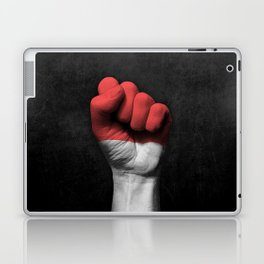 Indonesian Flag on a Raised Clenched Fist Laptop & iPad Skin