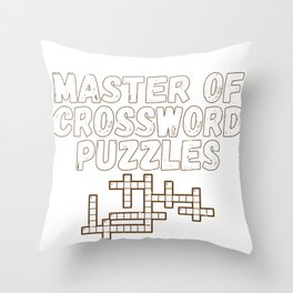 Master of Crossword Puzzles Fun Puzzle Lover Gift Throw Pillow