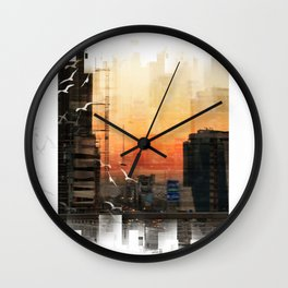 IN A CITY Wall Clock