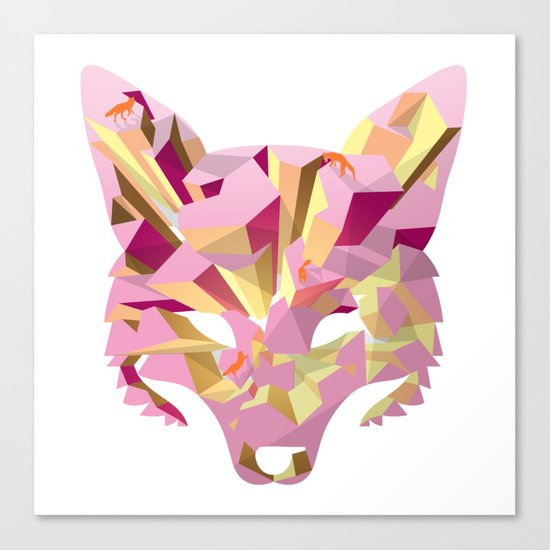Land of fox Canvas Print