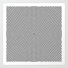 Concentric Dots Art Print
