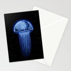 Moon Jellyfish Stationery Cards