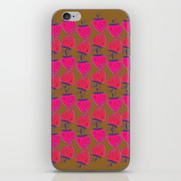 Design berries pink on eco b. iPhone Skin