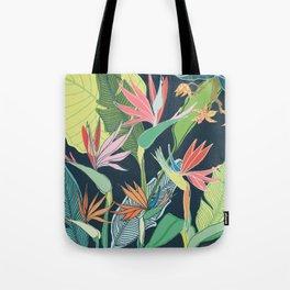 Tropical Bird of Paradise Tote Bag