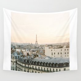 On the rooftops of Paris Wall Tapestry