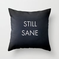 lorde Throw Pillows featuring Still Sane LORDE by Dr.RPF