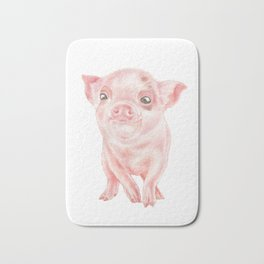 Baby Pig | Watercolour | Baby Animal Art | Animals Bath Mat