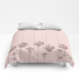 Trees Palm in Pink Comforters