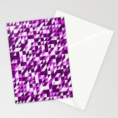 Purple Patchwork Stationery Cards