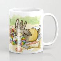 jackalope Mugs featuring August Jackalope by JoJo Seames