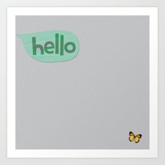 Hello in Green Art Print