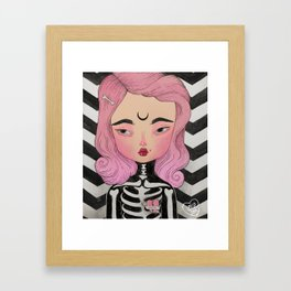 SKULLY ♡ KELLY Framed Art Print