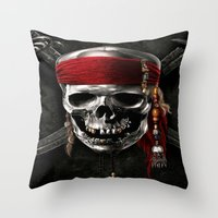 pirate Throw Pillows featuring PIRATE by Acus