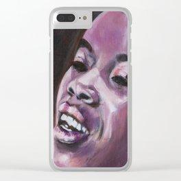 Here In My Purple Dream Clear iPhone Case