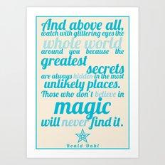 Roald Dahl / Typography Quote Art Print