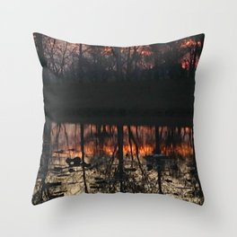Sunset At The Pond Throw Pillow